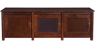 WFV66 - Woodbrook Triple Wide 3 Shelf A/V Cabinet, TVs up to 65` (Mocha Finish)