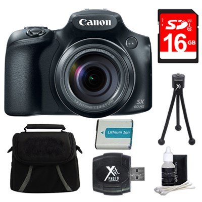 PowerShot SX60 HS Digital Camera 16GB Bundle