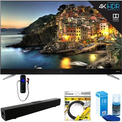 65` 4K UHD Dolby Vision HDR Roku Smart LED TV 2017 + Soundbar Bundles