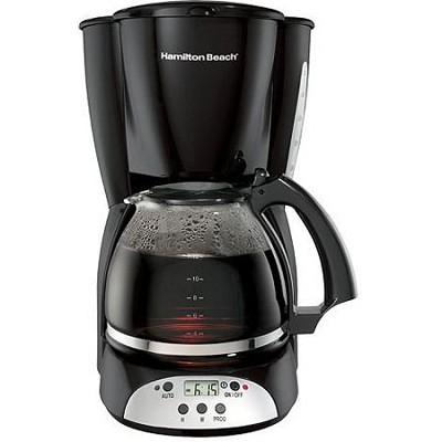 12 Cup Programmable Coffeemaker Black