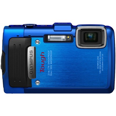 TG-830 iHS STYLUS Tough 16 MP 1080p HD Digital Camera - Blue - OPEN BOX