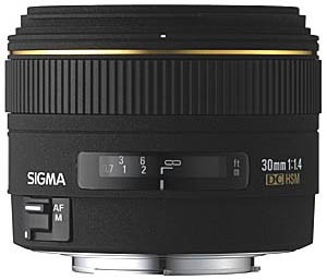 30mm f/1.4 EX DC HSM Autofocus Lens for Nikon Digital SLR Cameras- OPEN BOX