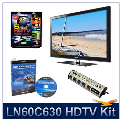 LN60C630 - 60` LCD HDTV + Hook-Up + Power Protection + Calibration DVD