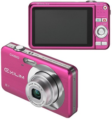 Exilim EX-Z80 8.1MP Digital Camera with 2.6` LCD (Vivid Pink)
