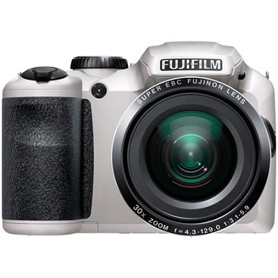 FinePix S6800 16 MP 30x Wide Angle Zoom Digital Camera - White