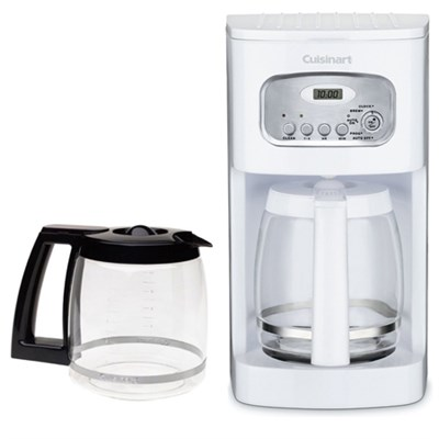 Brew Central 12-Cup Programmable Coffeemaker, White (Factory Refurb) w/Carafe