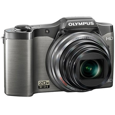 SZ-11 14MP 20x Optical Zoom 3D HD Digital Camera - Black - OPEN BOX