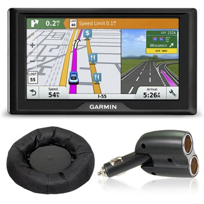Drive 60LMT GPS Navigator (US and Canada) Charger + Dash Mount Bundle