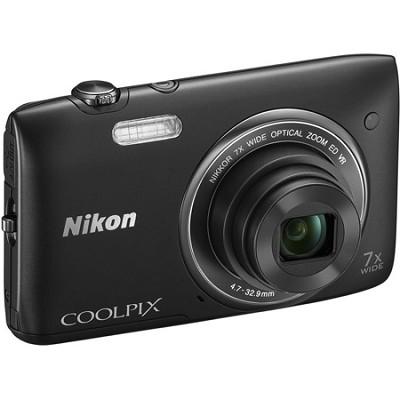 COOLPIX S3500 20.1MP Digital Camera with 720p HD Video (Black) Refurbished