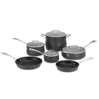 64-10 Contour Hard Anodized 10-Piece Cookware Set