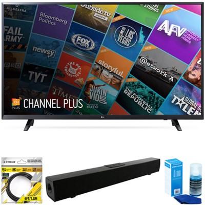 55` Class (54.6` Diag) 4K UHD HDR Smart LED TV 2018 Model + Sound Bar Bundle