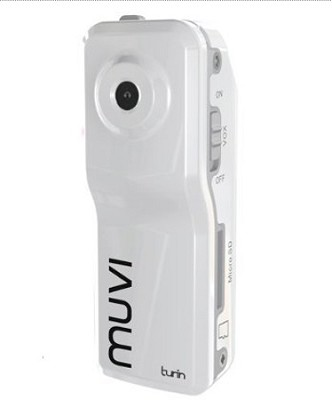 Muvi Turin Micro DV Camcorder (Ice White) - OPEN BOX