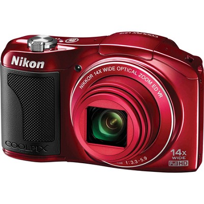 COOLPIX L610 16MP 3.0-inch LCD Red Digital Cam. - OPEN BOX
