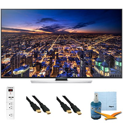 UN65HU8550 - 65 inch 4K 3D Smart Ultra HDTV Plus Hook-Up Bundle