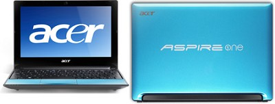 Aspire One AOD255E Series Netbook Computer - Aqua Intel Atom N455