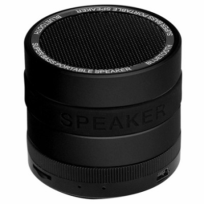 Portable Bluetooth Speaker with 8 Customizable Color Bands - Black Speaker
