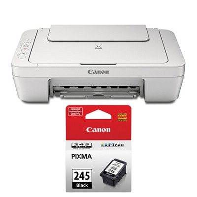 Pixma MG2924 Wireless-MP Inkjet Photo All-In-One White Printer Black Ink Bundle