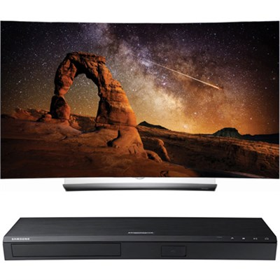 OLED55C6P 55` Curved OLED 4K Smart TV w/ UBD-K8500 3D 4K Ultra HD Blu-ray Player