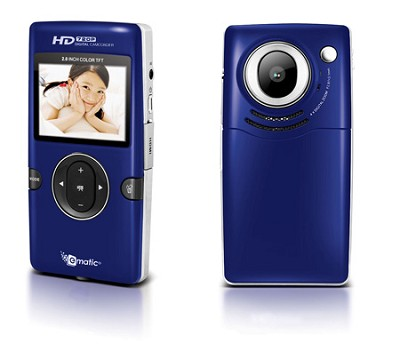 eCam101B 720P HD Flash Memory Camcorder with 1.5` Color Display
