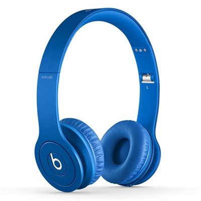 Solo HD On-Ear Headphones with Built-in Mic (Matte Blue)