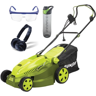 16` 12 AMP Maintenance Free Instant Start Electric Lawnmower & Accessories Kit