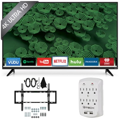 D55u-D1 D-Series - 55-Inch 120Hz 4K Ultra HD LED Smart HDTV Tilt Mount Bundle