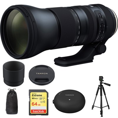 SP 150-600mm F/5-6.3 Di VC USD G2 Lens f/ Canon Mounts w/ Accessories Kit