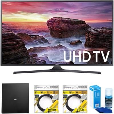 Flat 54.6` LED 4K UHD 6 Series Smart TV 2017 Model with Antenna Bundle