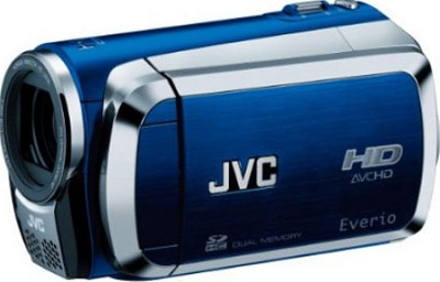 Everio GZ-HM200 Dual SD High-Def Camcorder (Blue)