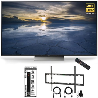 XBR-75X940D 75-Inch Class 4K HDR Ultra HD TV Flat Wall Mount Bundle