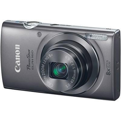 PowerShot ELPH 160 20MP 8x Opt Zoom HD Digital Camera - Silver