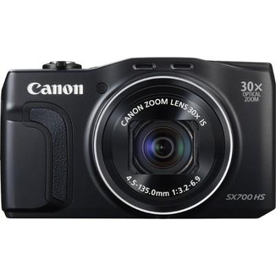 PowerShot SX700 HS 16.1MP HD 1080p Digital Camera - Black