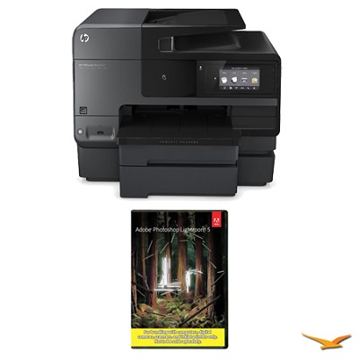 Officejet Pro 8630 e-All-in-One Wireless Color Printer w/ Photoshop Lightroom 5