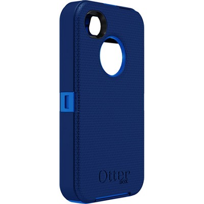 Defender Series Hybrid Case & Holster for iPhone 4S - Ocean Blue