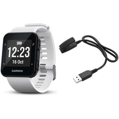 Forerunner 35 GPS Running Watch & Activity Tracker Charging Clip Bundle - White