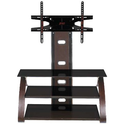 Lancer Flat Panel 3 in 1 TV Stand with Integrated Mount for TVs 36-60 inches