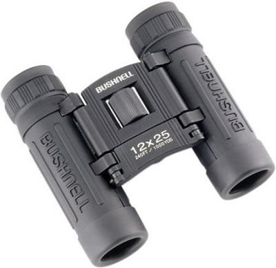 Powerview 12x25 Compact Folding Roof Prism Binocular (Black)
