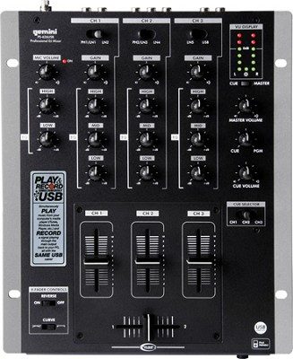 PS-626USB Professional 3 Channel Mixer with USB