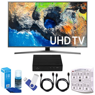 48.5` 4K UHD Smart LED TV (2017) + Terk HD TV Tuner 16GB Hook-Up Bundle