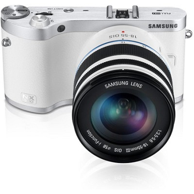 NX300 20.3MP CMOS Smart WiFi Compact DSLR Digital Camera with 18-55 Lens White