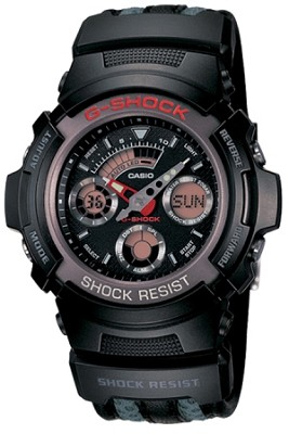 AW591CL-1A - Men's G-Shock Ana-Digi Black tough strap Watch
