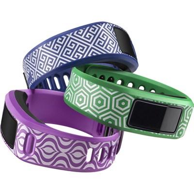 Vivofit Fitness Band Bundle Jonathan Adler Waikiki Trio - Green/Blue/Purple