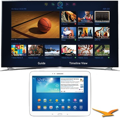 UN75F8000 - 75` 1080p 240hz 3D Smart Wifi LED HDTV - 10.1` Galaxy Tab 3 Bundle