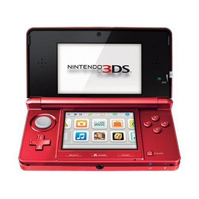 3DS Portable Gaming Console Red - OPEN BOX