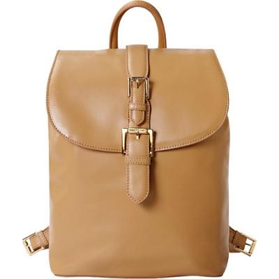 Isaac Mizrahi `KATHRYN MINI` Camera Backpack in Genuine Leather - Camel