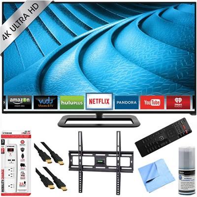 P502ui-B1E - 50` 2160p 120Hz Ultra HD 4K LED Smart TV Mount & Hook-Up Bundle
