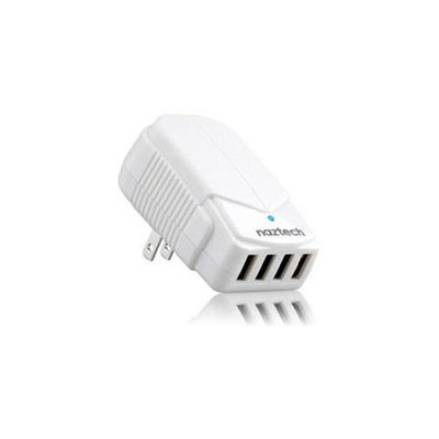 N240 4A Quad USB Travel Charger - White