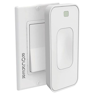 Motion Activated Instant Smart Light Switch Rocker That Listens 3.0 (White)