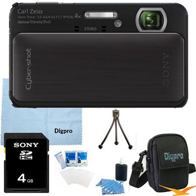 Cyber-shot DSC-TX20 16.2 MP Waterproof Shockproof Camera (Black) 4GB Bundle