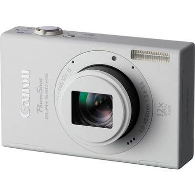 PowerShot ELPH 530 HS WI-FI White Camera w/  12x Zoom & 3.2 inch Touch LCD